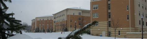 snow covers centennial court residence halls