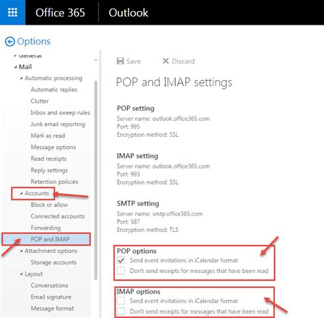 Office 365 Imap by Office 365 Pop Imap Setting Dp Tech