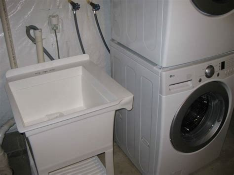 sink hookup washer and dryer installing utility sink next to washer dryer