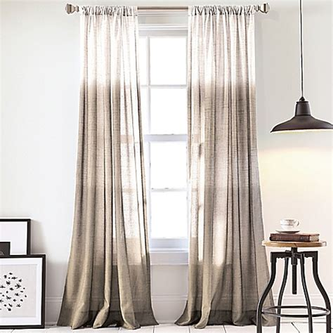 dkny curtains drapes buy dkny ombre 84 inch window curtain panel in linen