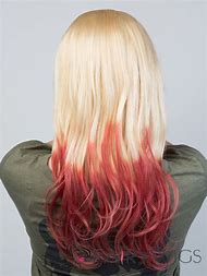 Red Hair with Blonde Ombre