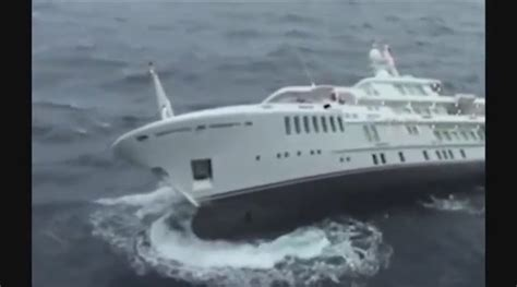superyacht sinks like a in the mediterranean