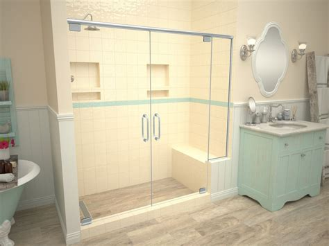 Shower Pans - base n bench redi trench shower pan bench kits