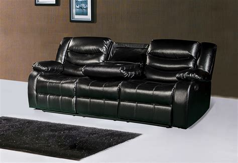 leather reclining loveseat with console 644bl black leather reclining sofa with drop console