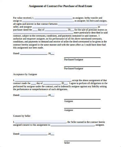 Real Estate Assignment Contract Dissertations On Education Real