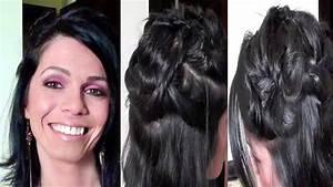 Tuto Coiffure Cheveux Court : tuto coiffure cheveux courts mi longs youtube ~ Melissatoandfro.com Idées de Décoration