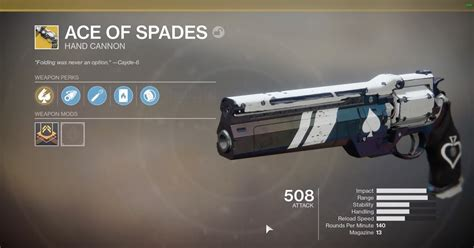 how get ace of spades cayde s will in destiny 2