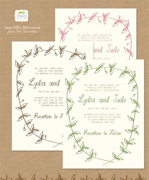 printable wedding invitations diy wedding