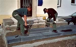 Blockstufen Beton Setzen : galabau azubis work ~ Orissabook.com Haus und Dekorationen
