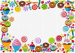 Vector candy border, Frame, Vector, Candy PNG and Vector ...