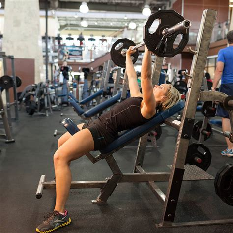 bench press for barbell incline bench press medium grip exercise guide and