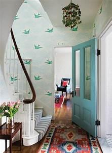 papier peint pour couloir comment faire le bon choix With tapis de couloir avec canapé lit bon matelas