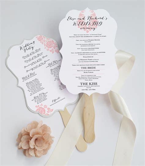 free wedding program fan deersfield wedding program fan die cut and coordinates