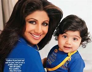 Shilpa Shetty and Baby Viaan Kundra in Hello! India ...