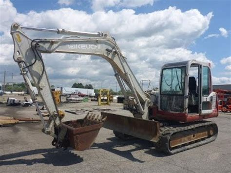 takeuchi tb excavator  sale  auction youtube