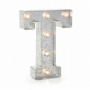 darice 02830 galvanized silver lighted letter symbol With galvanized light up letters