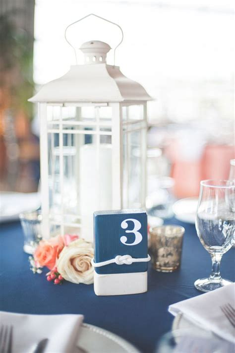 Navy Blue and Coral Nautical Wedding by Shannon Moffit