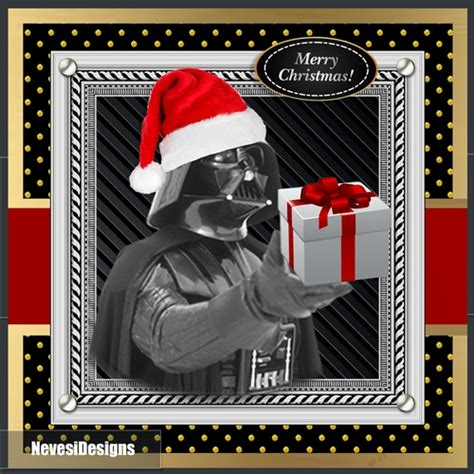 Late 2012, lucasfilm ltd tapped me to create 12 brand new paintings for the official star wars style guide. Star Wars Christmas Card - CUP932277_2073 | Craftsuprint