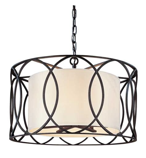troy lighting sausalito bronze five light pendant