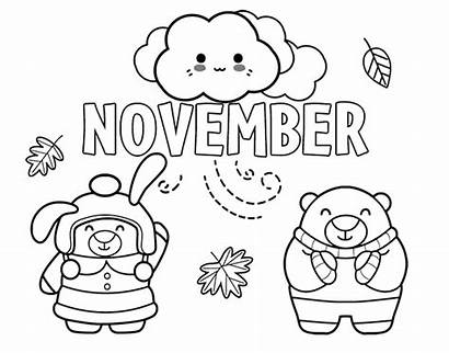 November Coloring Del Noviembre Para Colorear Dibujo