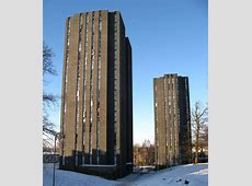 FileSouth towers with snowy ground, University of Essex
