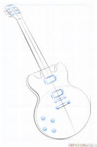 How to draw an electric guitar step by step drawing for Basicelectricity