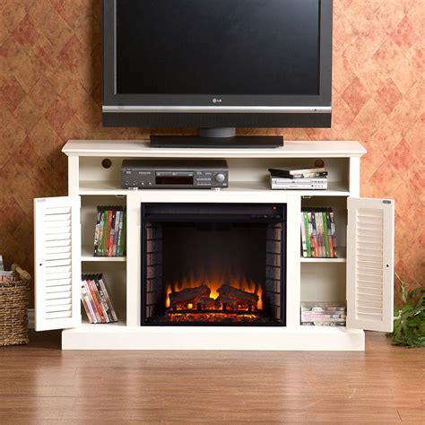 white accent cabinets with doors antique white electric fireplace portablefireplace