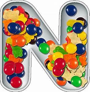 Presentation Alphabets: Candy Dish Letter N