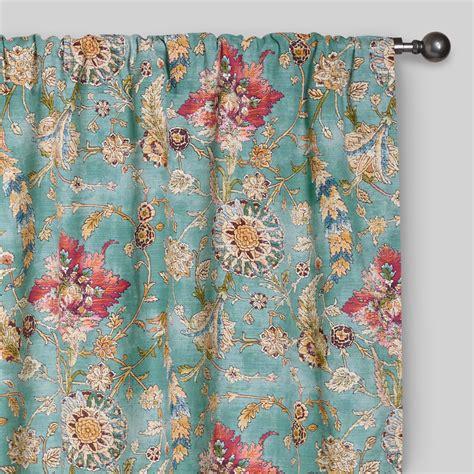 aquamarine drapes aqua genevieve cotton concealed tab top curtains set of 2