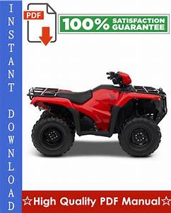 Honda Trx500fa    Trx500fga Rubicon Foreman Workshop