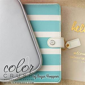SALE Webster's Pages Color Crush Teal & White by myrubberstamp