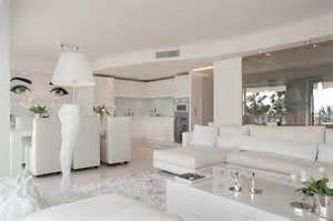 deco cuisine appartement le tout blanc contemporain salon par signe