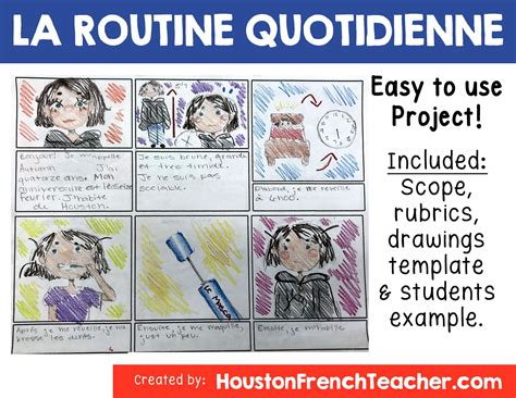 french daily routine la routine quotidienne  images
