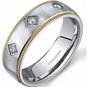 oravo men39s two tone comfort fit titanium wedding band With mens wedding rings at walmart