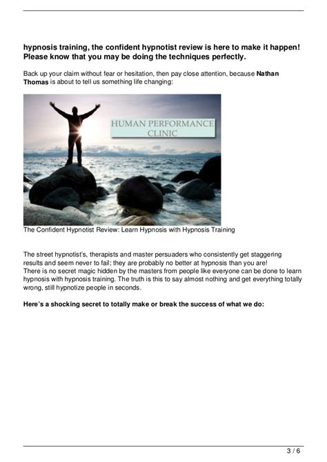 The Confident Hypnotist Review Learn Hypnosis With