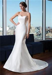 how would you style a simple satin fit and flare With simple fitted wedding dresses