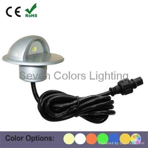 12 volt outdoor led step light sc b106b seven colors
