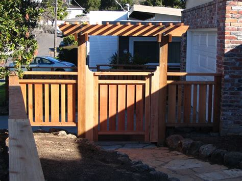 Garden Fence Trestle by Grand Outside Pergola Gates With Wooden Fence Ideas As