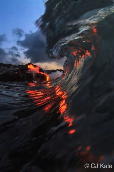 extremely dangerous lava surf photography  completely