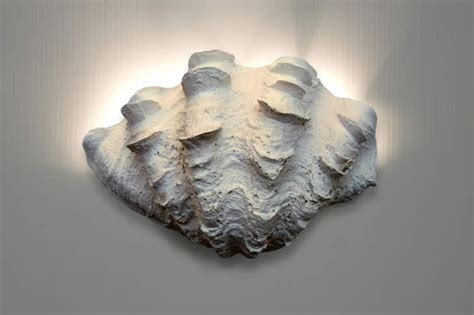 wall sconce ruffled clam shell style wall