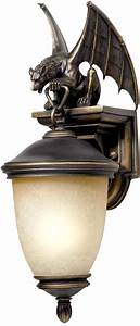 "Gargoyle Energy Efficient 20"" High Outdoor Wall Light"