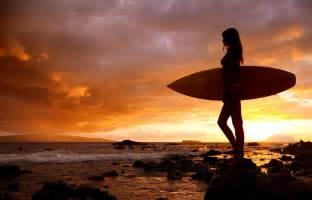 surfer girl and makena sunset ii photograph by makenastockmedia