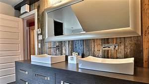 deco bois interieur deco interieur bois dco blanc et With salle de bain design avec bois flotté décoration murale
