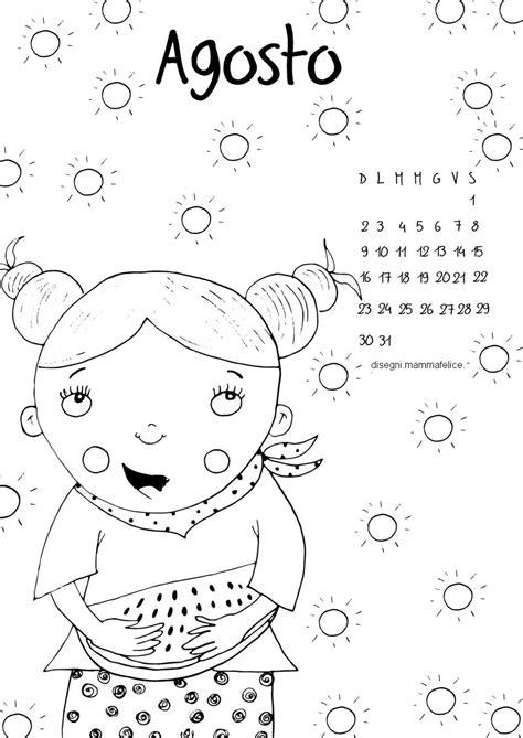 calendario mese di luglio 2019 da stare calendario da colorare il mese di agosto disegni