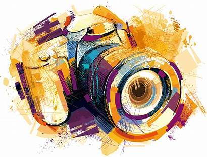 Camera Vector Watercolor Drawing Effects Clipart