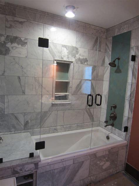tub  shower frameless enclosure patriot glass