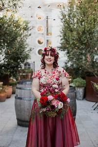 A colorful city garden wedding chic vintage brides for Untraditional wedding dresses