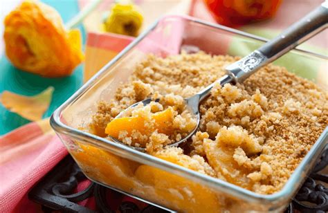 katies summer peach crisp recipe sparkrecipes