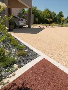 amenager une cour moderne avec une composition de graviers With amazing idee amenagement jardin devant maison 8 amenager une cour moderne avec une composition de graviers