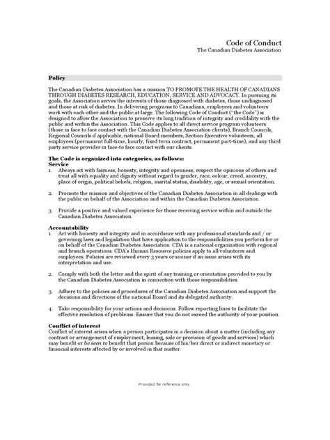 code of conduct exle 5 free templates in pdf word